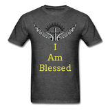I Am Blessed Tee - heather black