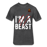 I'm A Beast Tee - heather black