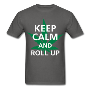 Roll Up Tee - charcoal