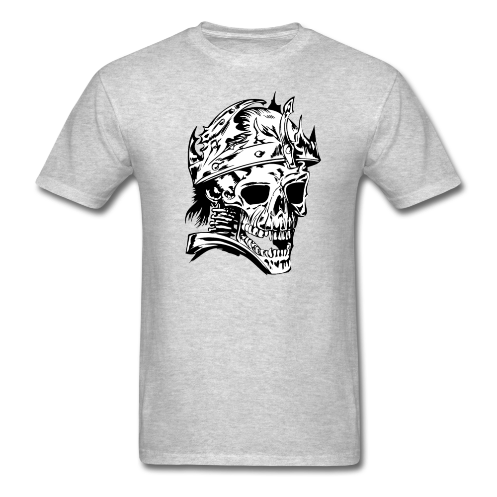 King Skull Tee - heather gray