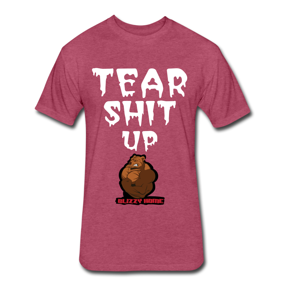 TSU Tee - heather burgundy