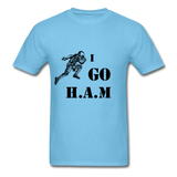 H.A.M Tee - aquatic blue