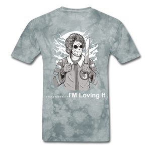 Loving it Tee - grey tie dye
