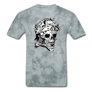 King Skull Tee - grey tie dye