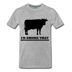 I'd Smoke That Beef - heather gray