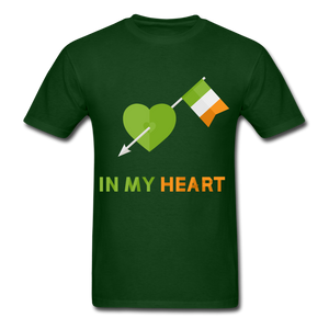 Irish Heart Tee - forest green