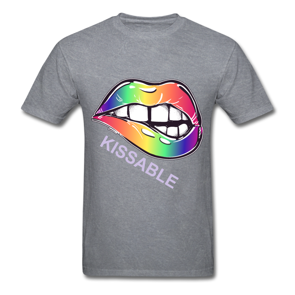 Kissable Tee - mineral charcoal gray