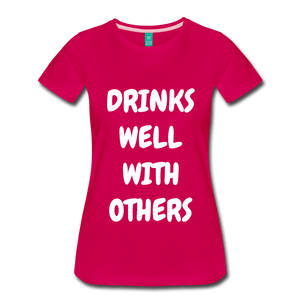 DRINKS WELL - dark pink