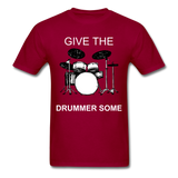 Drummer Tee - dark red