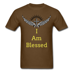 I Am Blessed Tee - brown
