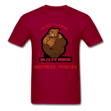 Bliz & Home Tee - dark red