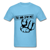 Stop Me Tee - aquatic blue
