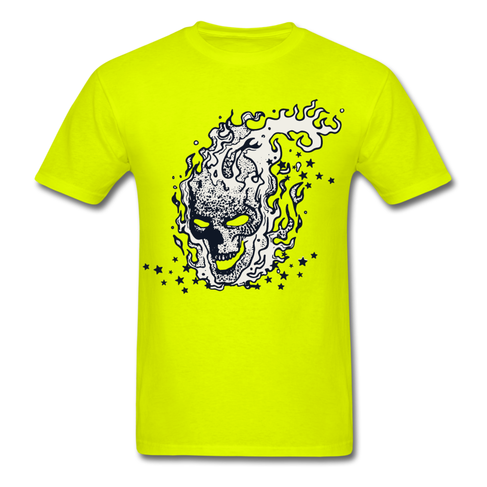 Sparkle Skull Tee - safety green