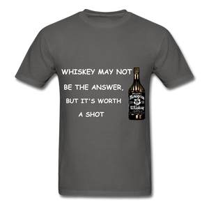 Whiskey Tee - charcoal