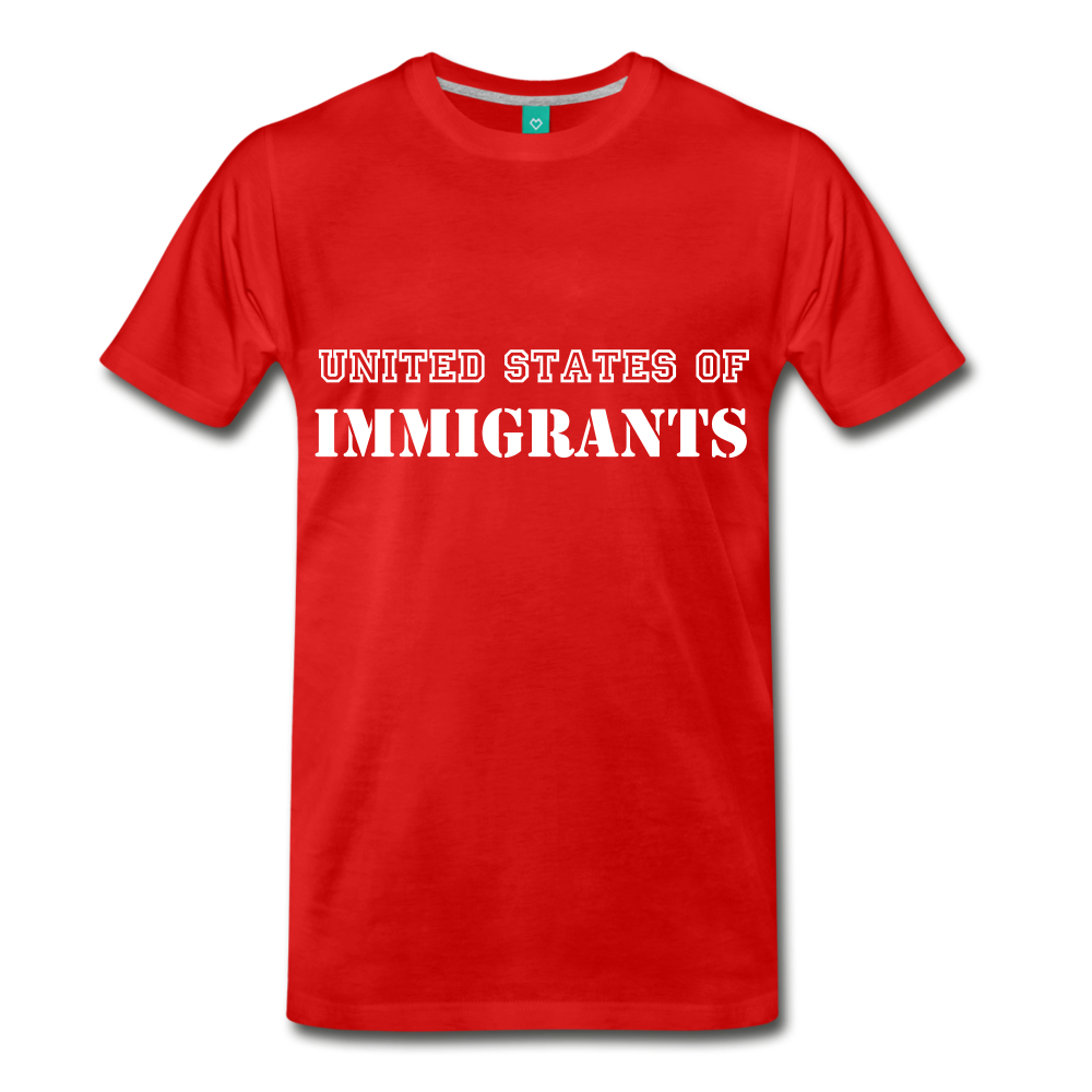 United States Of Immigrants - red