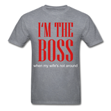 Boss Tee - mineral charcoal gray