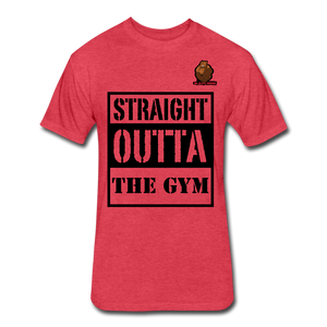Straight Outta The Gym Tee - heather cream