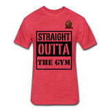 Straight Outta The Gym Tee - heather red