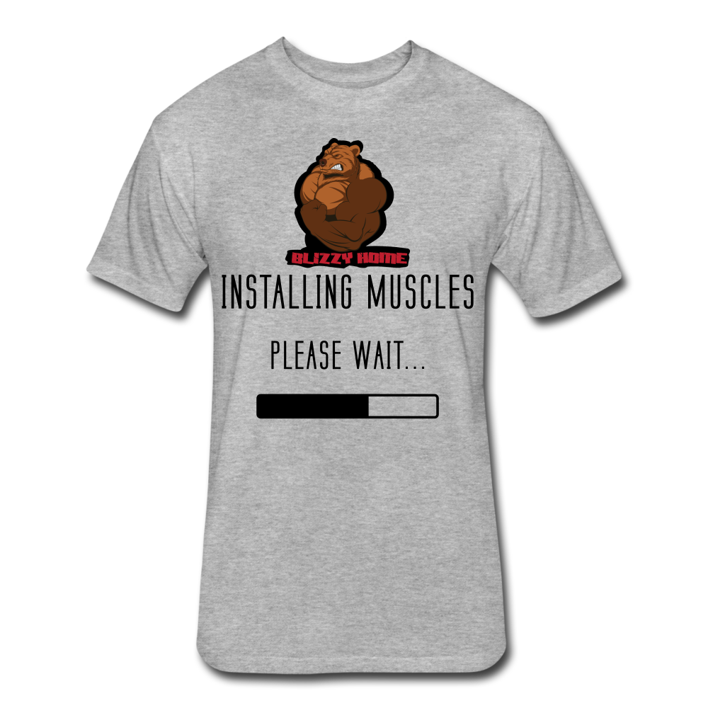 Installing Muscles Tee - heather gray