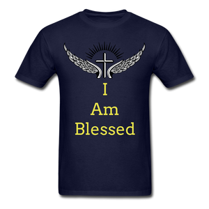 I Am Blessed Tee - navy
