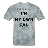 My Own Fan - grey tie dye