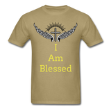 I Am Blessed Tee - khaki