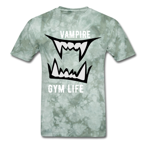 Vamp Gym Tee - military green tie dye