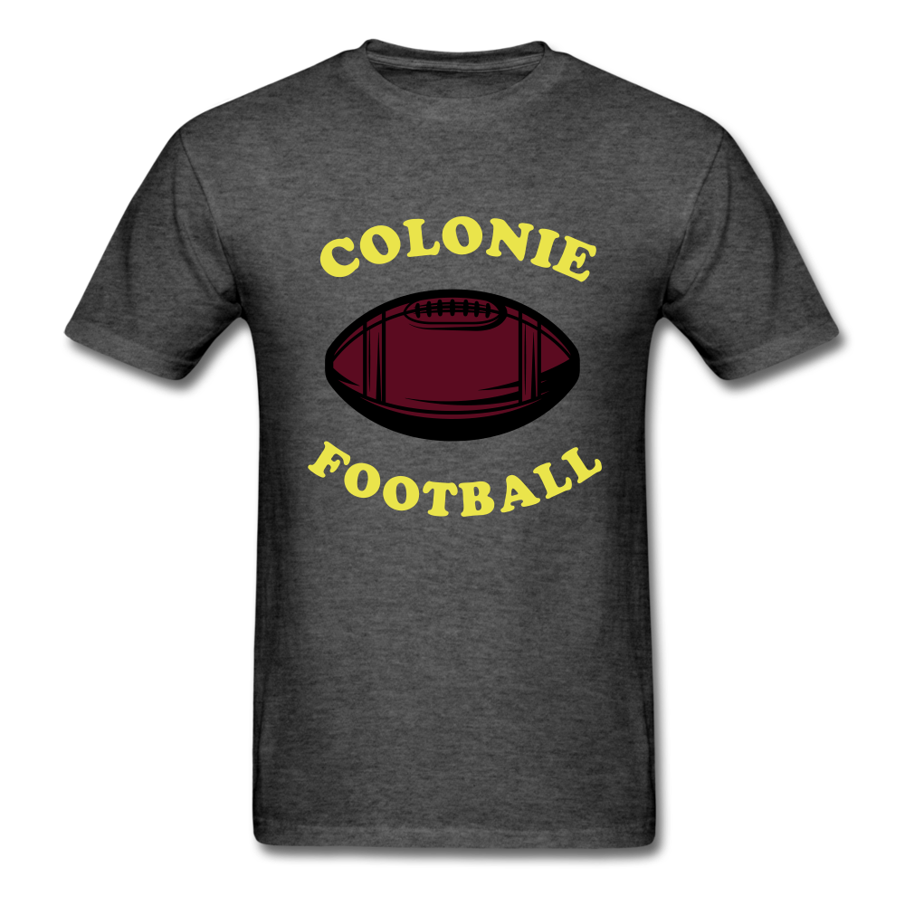 Colonie Football Tee - heather black