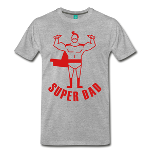 Super Dad - heather gray
