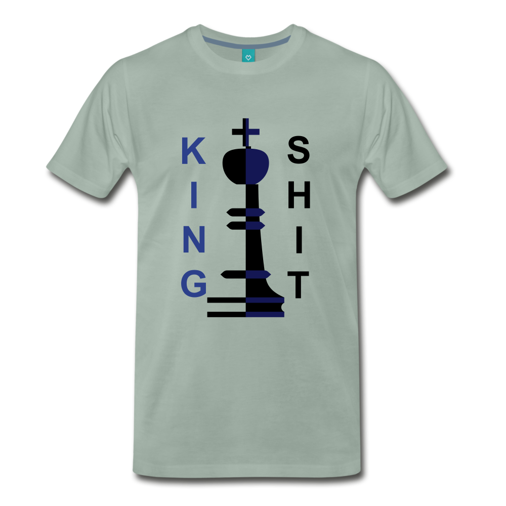 King Shit Tee - steel green