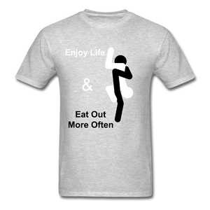 Eat Out Tee - heather gray