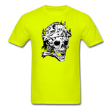 King Skull Tee - safety green
