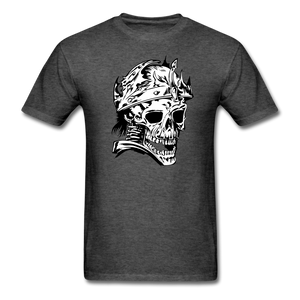 King Skull Tee - heather black