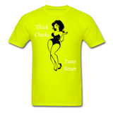 Thick Chicks Tee - safety green