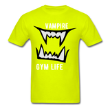 Vamp Gym Tee - safety green