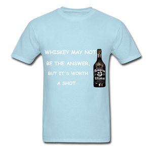 Whiskey Tee - powder blue