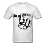 Stop Me Tee - light heather grey
