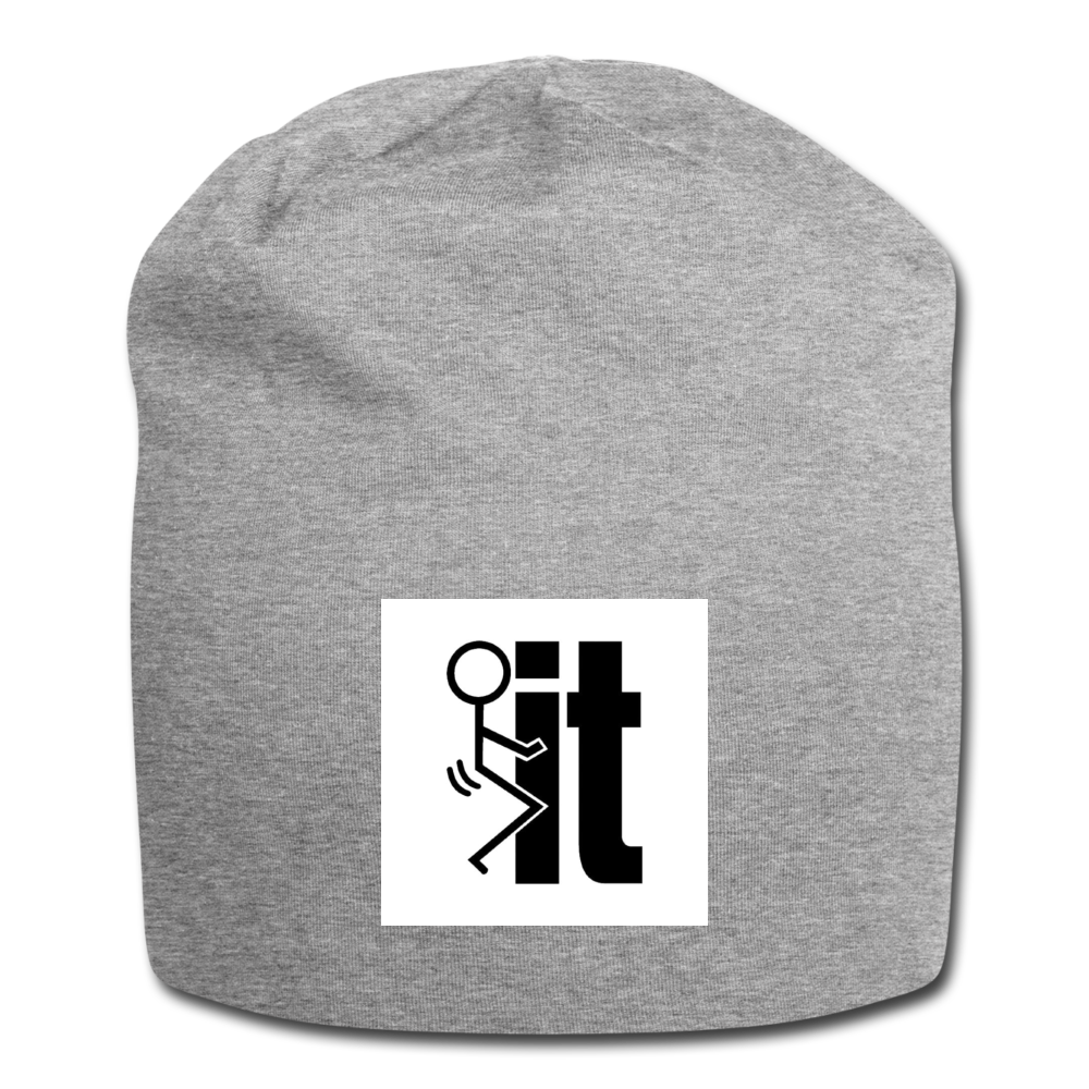 F It Beanie - heather gray