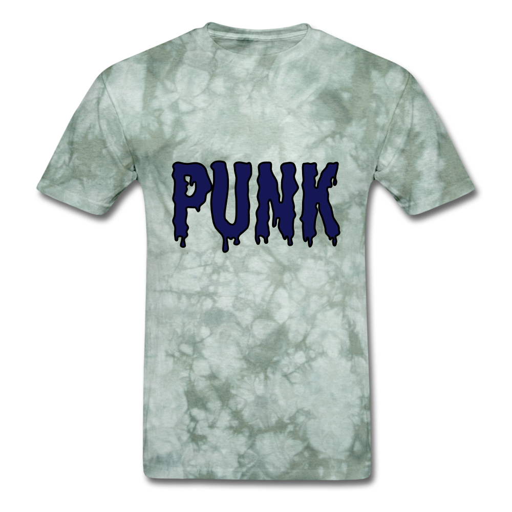 Punk Tee - military green tie dye