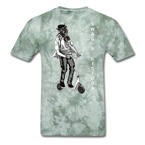 Swag-A-Licious Tee - military green tie dye