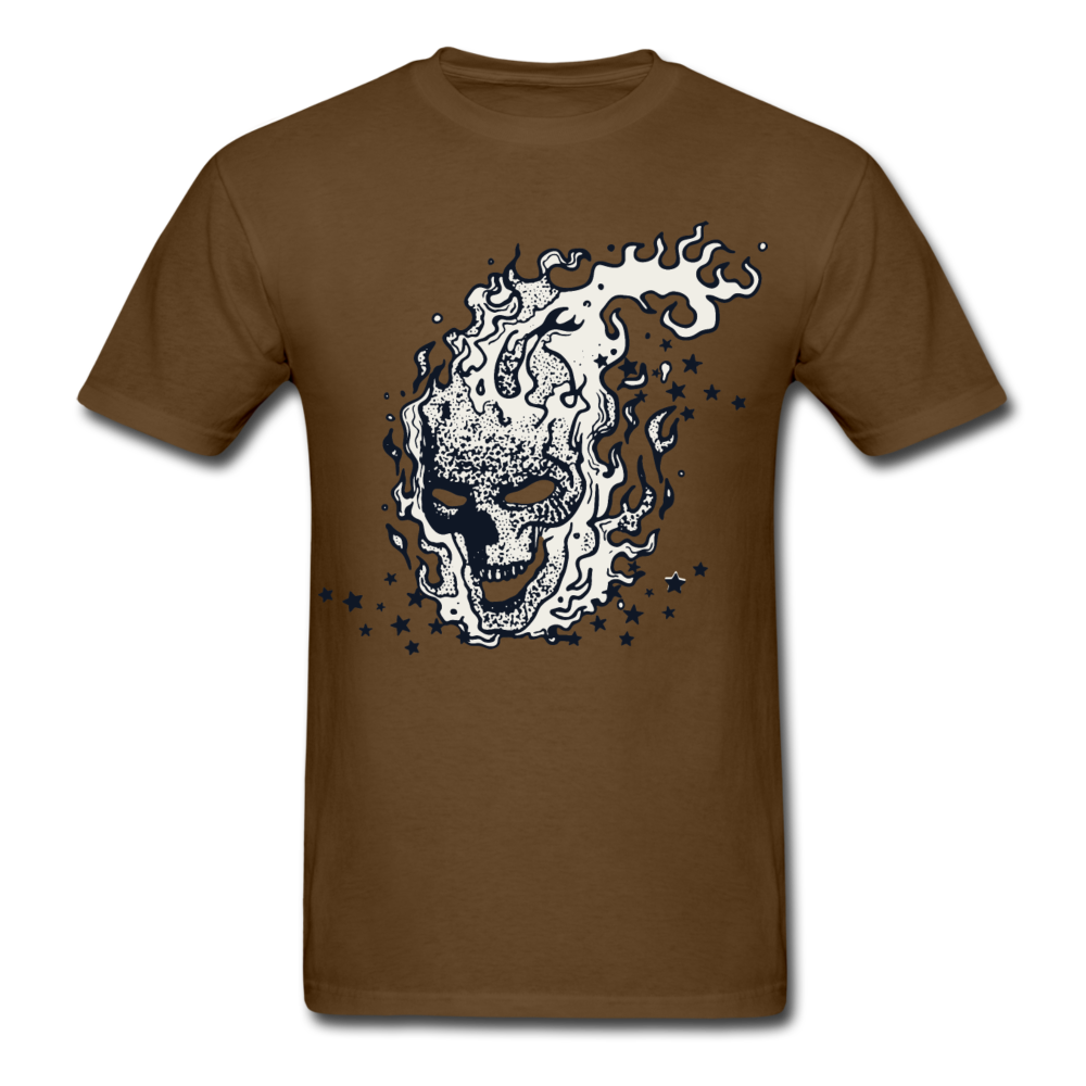 Sparkle Skull Tee - brown