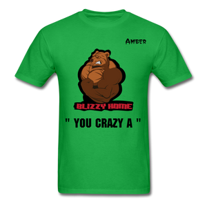 Crazy A Tee @ - bright green