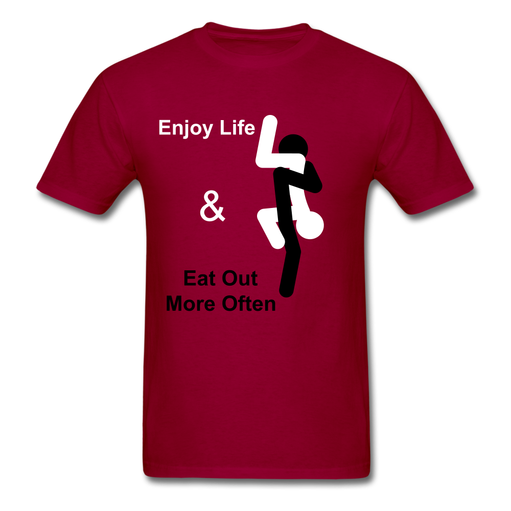 Eat Out Tee - dark red