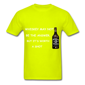 Whiskey Tee - safety green
