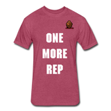 One More Rep Tee - heather burgundy