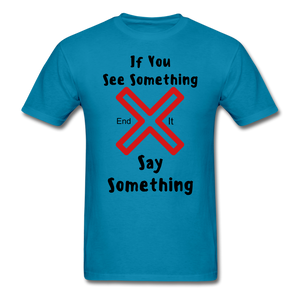 See Something Say Something Tee - turquoise