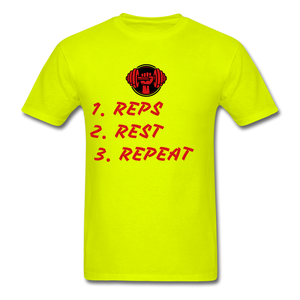 Rep's Tee - safety green