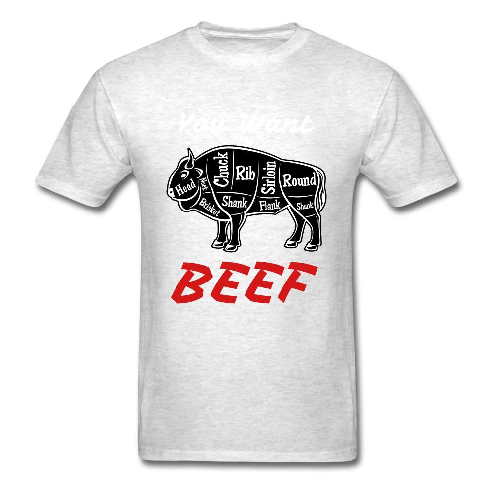 Beef Tee - light heather grey