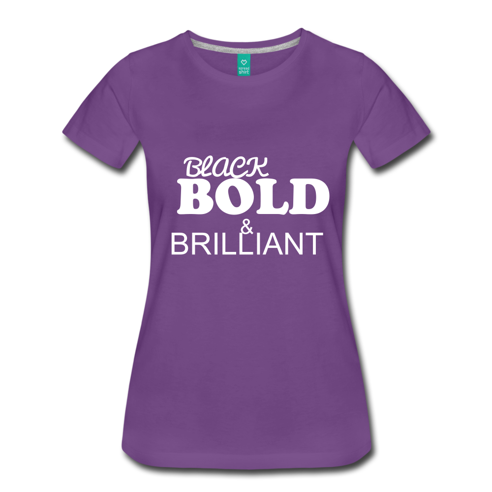 Black Bold Brilliant Tee - purple