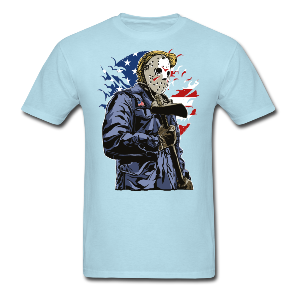 Trump Killer Tee - powder blue